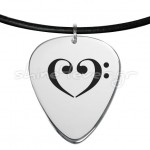 guitar pick heart fa