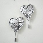 Silver Hearts with lace pattern, Marios Voutsinas