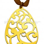 Gold-plated egg-shaped pendant
