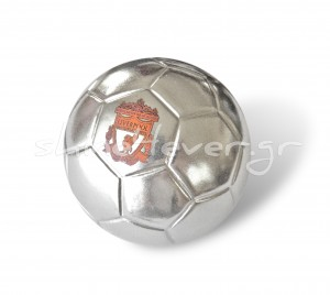 Silver-plated soccer ball