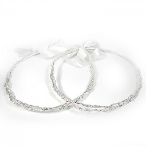 Silver-plated chaste tree weddings crowns