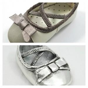 Shine4ever.gr brown ribbon barret shoe