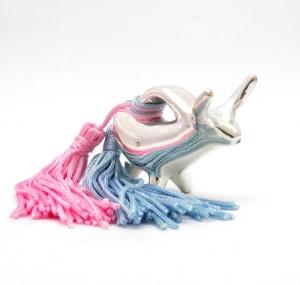 Ασημένια κουδουνίστρα Ταυράκι /  Taurus silver baby pacifier